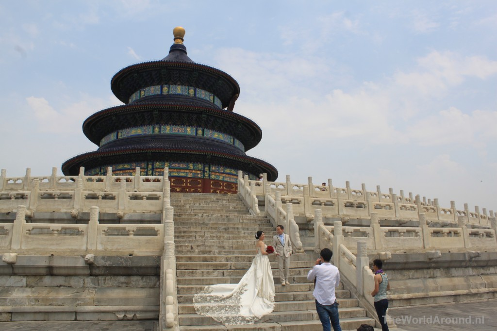 The temple of heaven park is ook een romantische plaats.